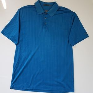 Nike Tiger Woods Dri Fit Blue Golf Polo Mens XL